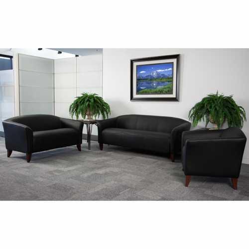 Flash Furniture HERCULES Imperial Series Black Leather Sofa