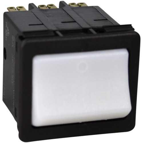 42-2096 KEATING 054480 BLACK BODY LIGHTED WHITE ROCKER ARM SWITCH NEW