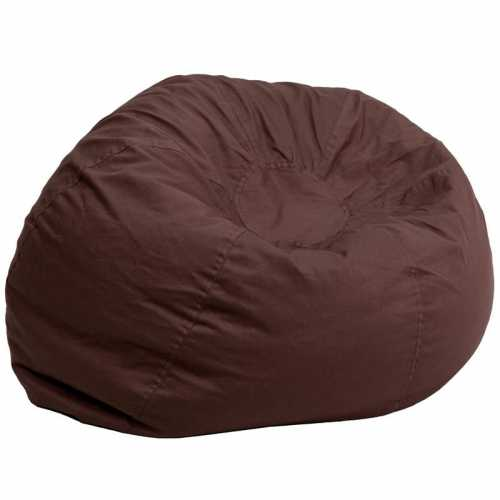 Flash Furniture-FLA-DG-BEAN-LARGE-SOLID-BRN-GG-31