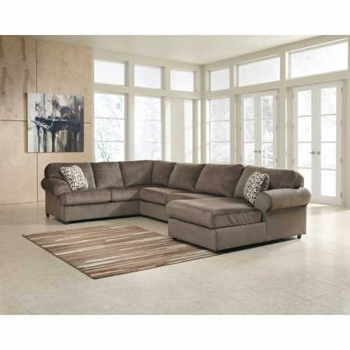 Signature Design by Ashley Jessa Place Sectional in Dune Fabric