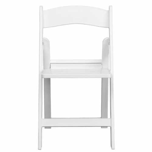 Terrific Flash Furniture Hercules Series 1000 Lb Capacity White Resin Folding Chair With Slatted Seat Ocoug Best Dining Table And Chair Ideas Images Ocougorg