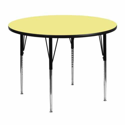 Flash Furniture-FLA-XU-A48-RND-YEL-T-A-GG-31