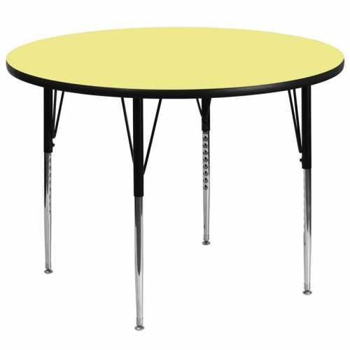 Flash Furniture-FLA-XU-A60-RND-YEL-T-A-GG-31