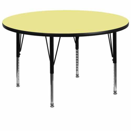 Flash Furniture-FLA-XU-A60-RND-YEL-T-P-GG-31
