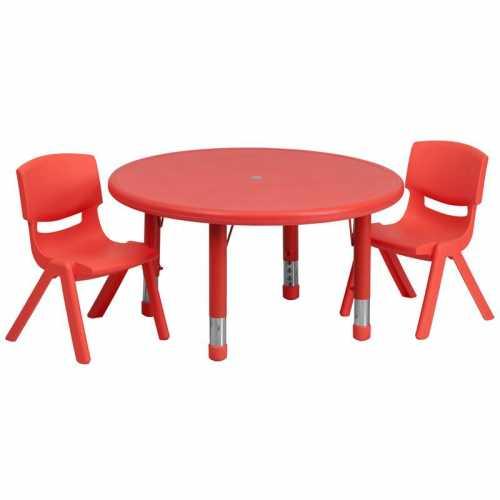 Flash Furniture-FLA-YU-YCX-0073-2-ROUND-TBL-RED-R-GG-31