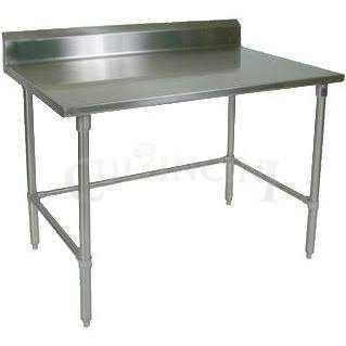 John Boos Stainless Steel Work Table W Backsplash Galvanized - Stainless steel work table with backsplash