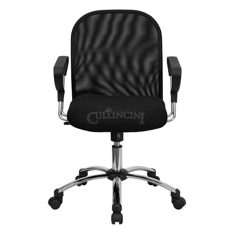 Flash Furniture Mid Back Black Mesh Office Chair with Chrome Base