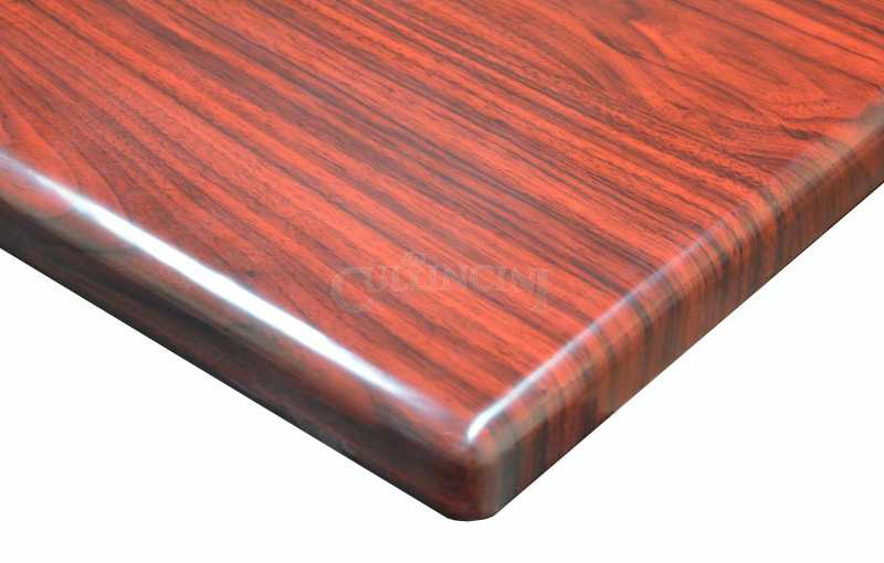 DHC Furniture Resin Table Top TRH Mahogany TRH X - Table top for restaurant supply