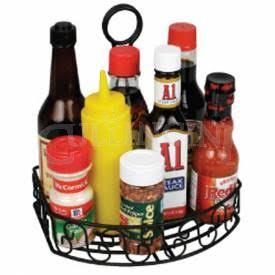 Winco Tabletop Condiment Caddy X X Straight Back - Table top caddies for restaurants