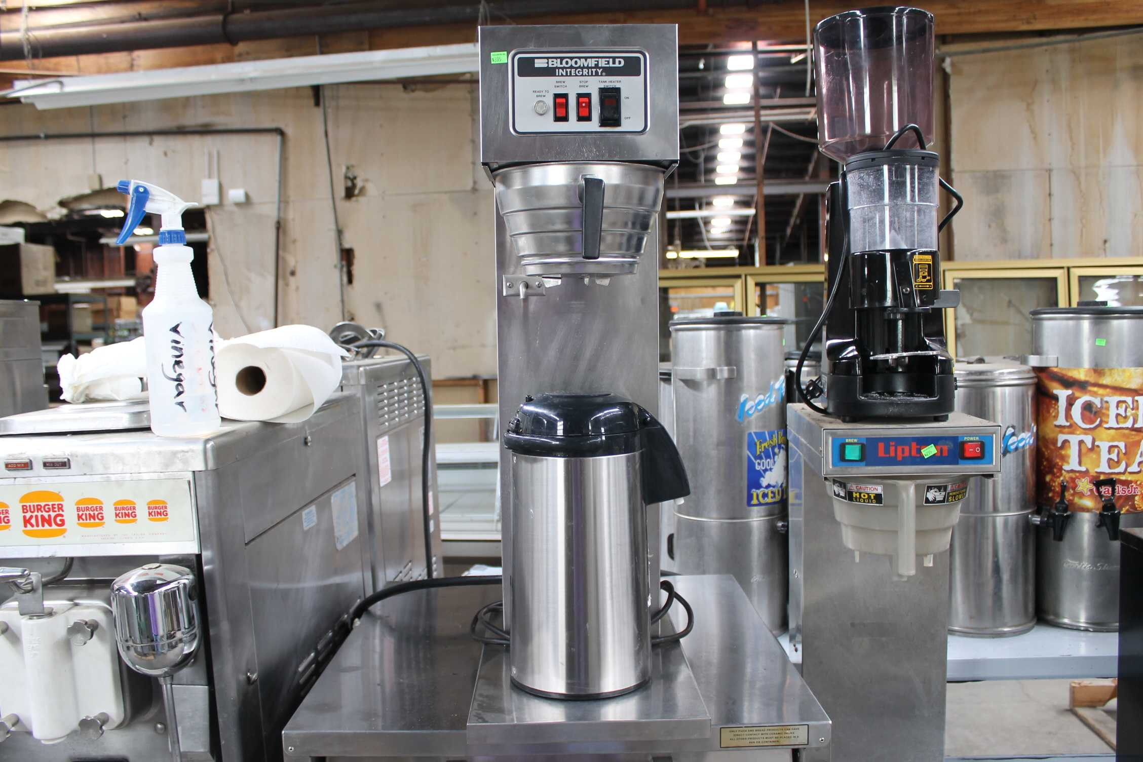 Used Tea Dispensers/Equip,