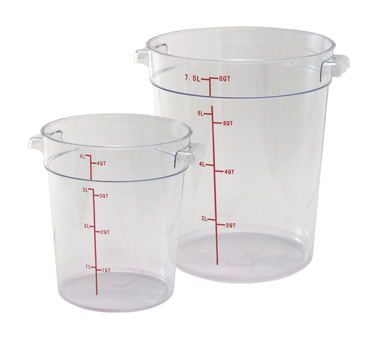 Round, Clear Food Storage Containers & Lids