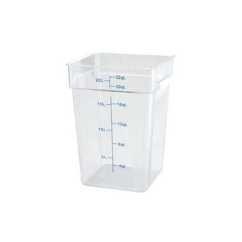 Square, Clear Food Storage Containers and Lids
