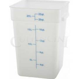 Square, White Food Storage Containers and Lids