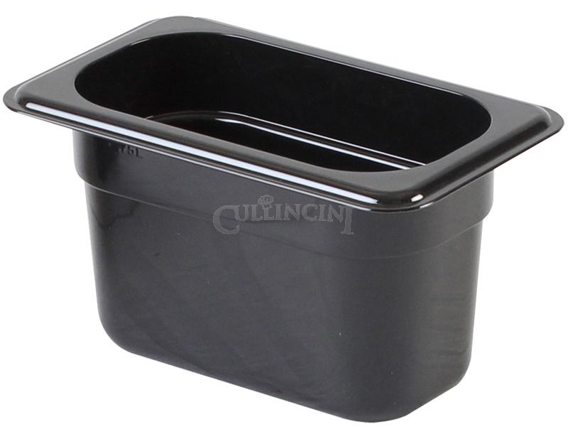 Black Regular Temperature Plastic Food Pans & Lids