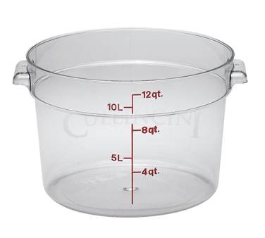 Round, White Food Storage Containers & Lids